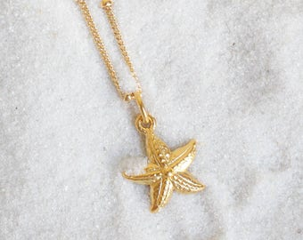 14k Gold Filled Starfish, Necklace, 14k Gold Filled, Tahitian, Pendant, Floating, Hawaiian, Festival, Etsy, Wire, Necklace, Edison Pearl