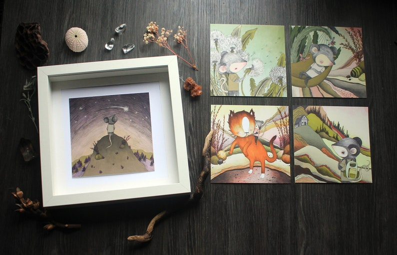 Set Of 5 Prints A Day In The Life Of Maus image 0