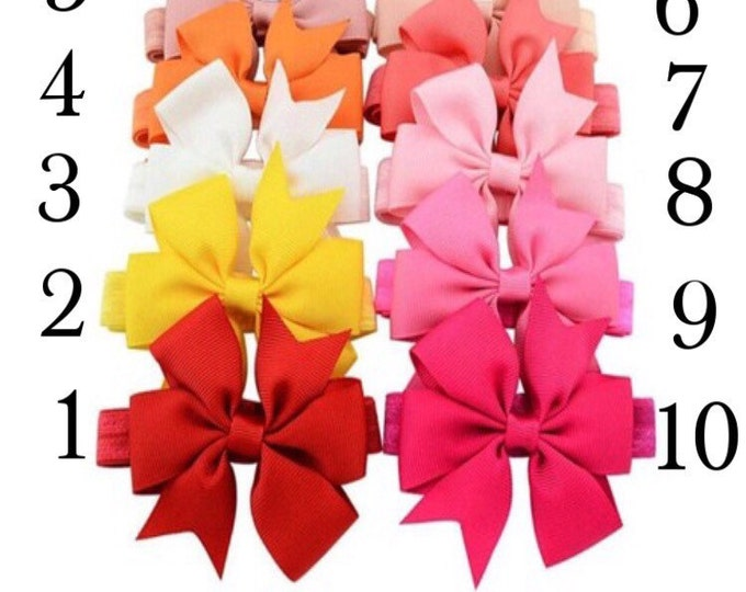 5 for 5! Grosgrain Pinwheel Headbands