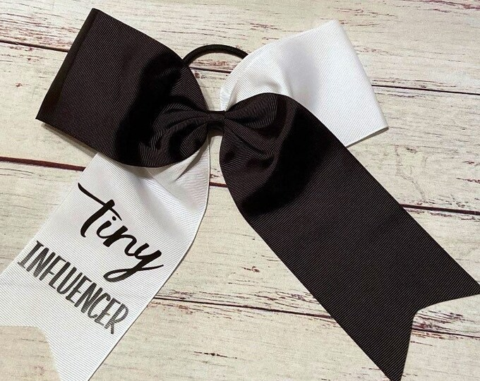 "TINY INFLUENCER, 8"" Grosgrain Cheering Bows"