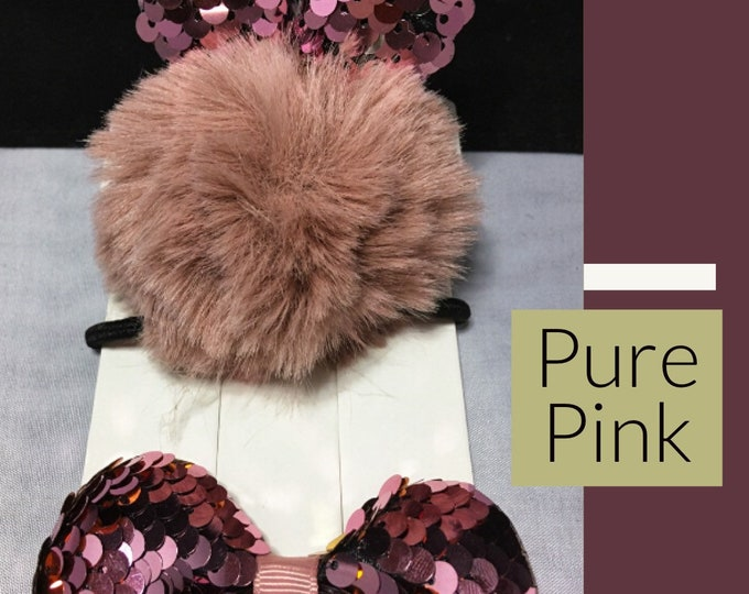 PURR PINK, 2 Piece Hair Accessory Set
