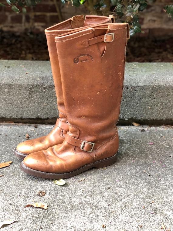 Vintage Brown Chippewa Engineer Boots