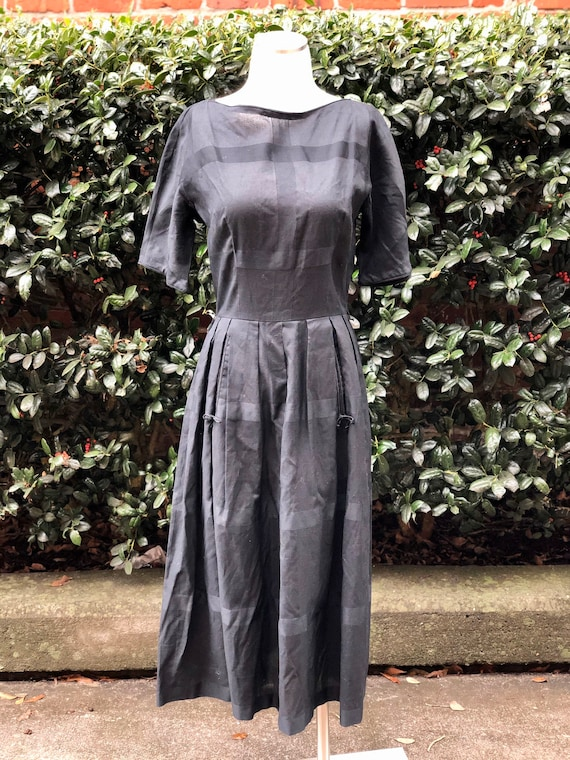 1950's L'Aiglon Black Dress
