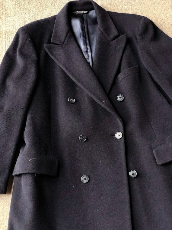 Vintage Navy Blue Kilgour French & Stanbury  Wool… - image 3