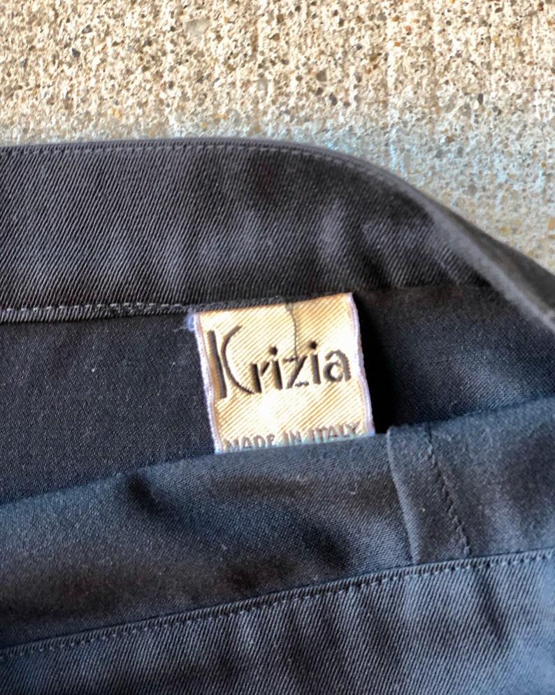 Vintage Krizia Black Wool Skirt