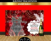 Items Similar To Burlesque Birthday Party Invitation Diamonds And