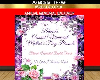 Memorial Backdrop | Mother's Day Backdrop | Religious Theme Backdrop