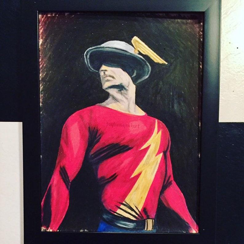 Jay Garrick Flash Dc Comics Prismacolor Pencil Drawing Etsy