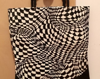 Wonderful Mod Op Art Purse Bag Mary Quant 60's Psychodelic
