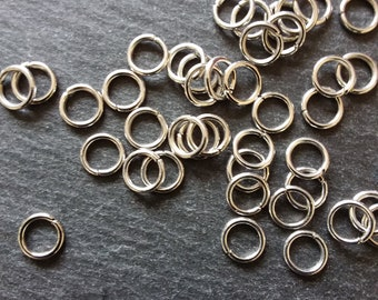 300 x Strong Gold Plated Jump Rings 8mm x1.2mm