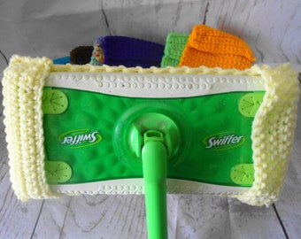 SWIFFER Sweeper Reusable Pads, Swiffer Covers, NEW Set OF 7, Handmade Crocheted Swiffer Mop Pads