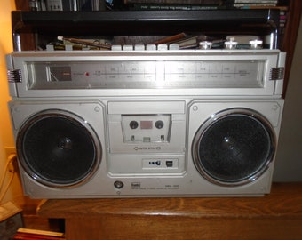 Vintage 1980's Kumho KRC-505 Cassette Recorder Boombox Rare and Works