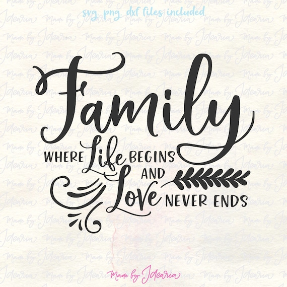 Family Svg Family Svg Sayings Family Svg Files Family Quote Etsy
