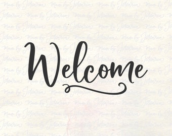 Welcome svg, welcome svg file, home svg, welcome cut file, svg welcome, house sign svg, front door svg file, welcome svg cut, home sweet svg