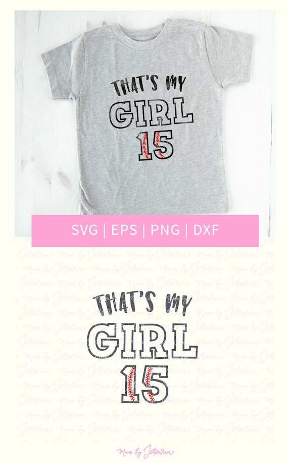Thats My Girl Svg Girl Baseball Svg Girl Svg Baseball Svg Etsy