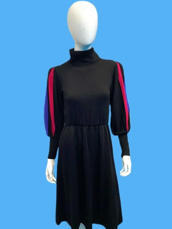 1980's Miss Bergdorf Wool Knit Balloon Sleeve Shea