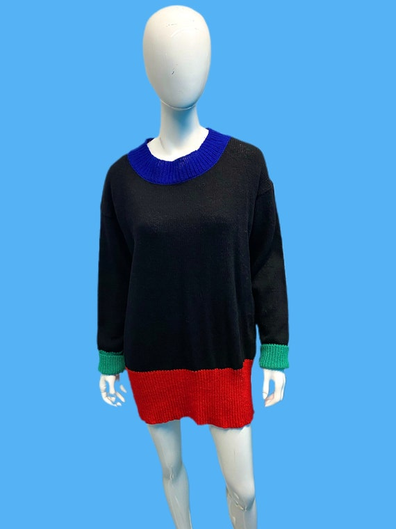 1980's Dorothee Bis French Oversized Colorblock kn