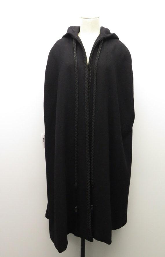 Vintage Pauline Trigere A Trigere Coat black Hoode