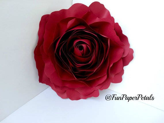 X Large Rose Template Paper Flower Template Digital Download Etsy