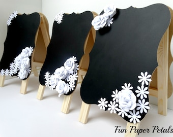 Party Table Numbers Chalkboard Sign Paper Flower Wall Table Numbers Wedding Centerpieces