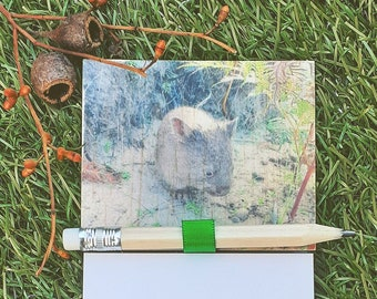 Magnetic Fridge Notepad - Wombat Joey
