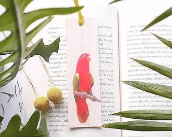 Wooden bookmark - Australian King Parrot