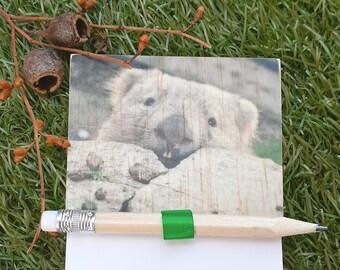 Magnetic Fridge Notepad - Wombat