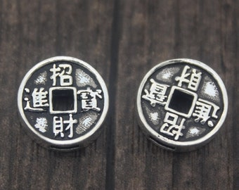 50 100 Käsch 15mm Chinesische Glücksmünzen Glücksbringer Talisman  Feng Shui