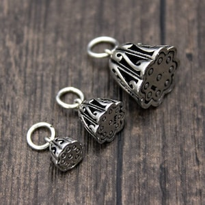 Sterling Silver Lotus Seed Charms,6mm 8mm 10mm 12mm ,Silver Lotus Charms,Silver Lotus Flower Charms,Yoga Charms,Yoga Jewelry for selection