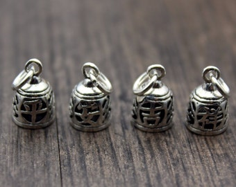 1PC Sterling Silver bell charm, Sterling silver bell pendant with Chimer, bell charm, bell pendant,Christmas bell charm, Jingle bell
