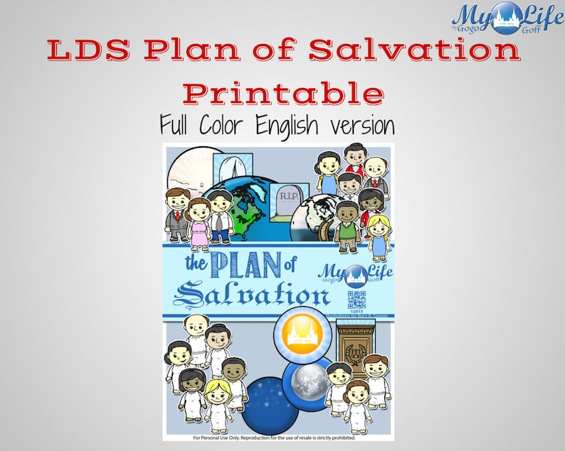photograph about Plan of Salvation Printable referred to as LDS Program of Salvation Missionary/FHE Show Printable -English (Entire Shade ) Immediate Down load