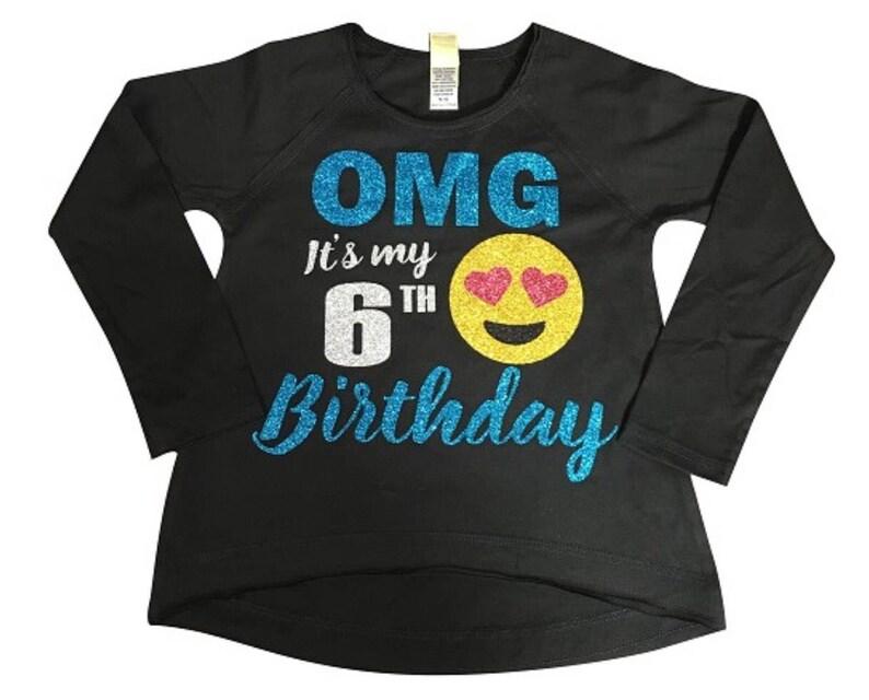 OMG Its My Age Birthday Emoji Shirt