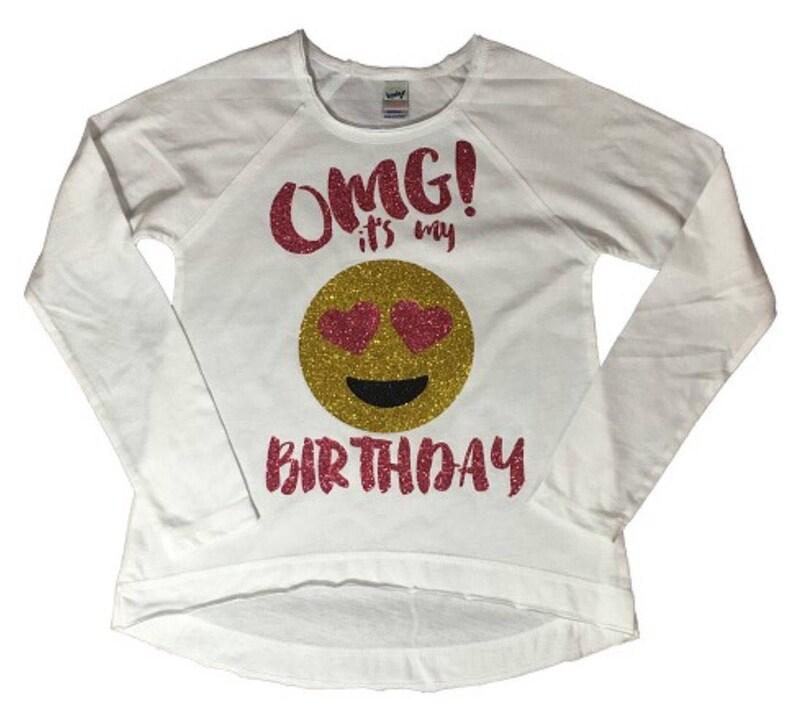 OMG Its My Birthday Emoji Shirt Image 0