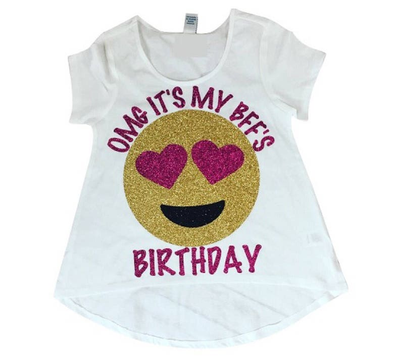 OMG Its My BFFs Birthday Emoji Shirt