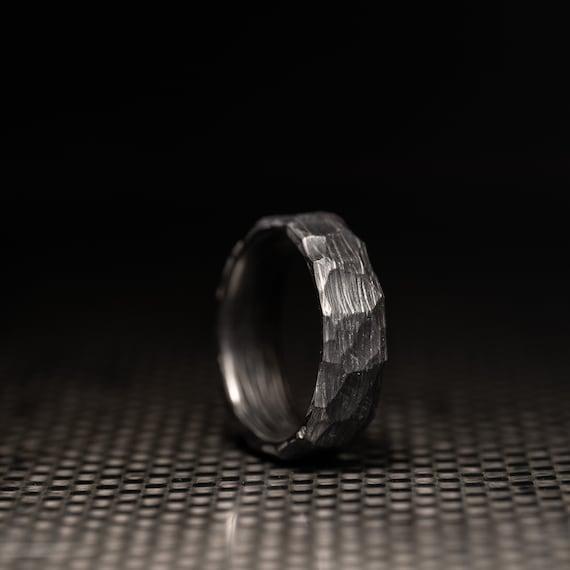 mariage BAND Canaries bois Handmade Ring Fibre de carbone Anneau Men/'s Wedding Band
