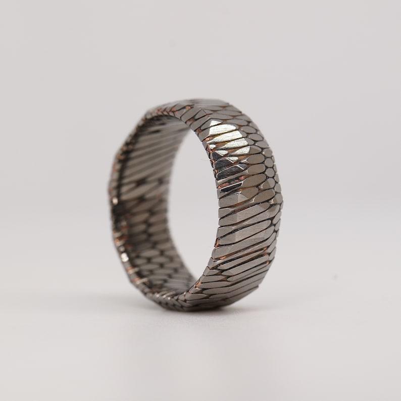 Etched Superconductor Ring Custom Made Titanium-Niobium and image 0
