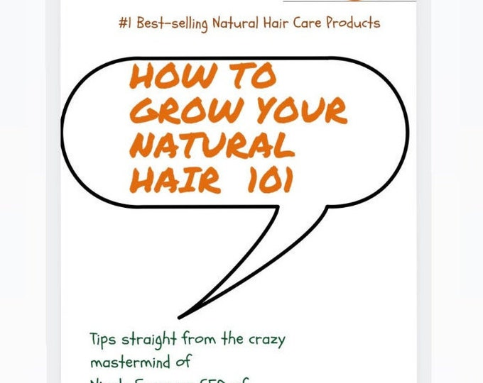 How To Grow Your Natural Hair 101 Ebook
