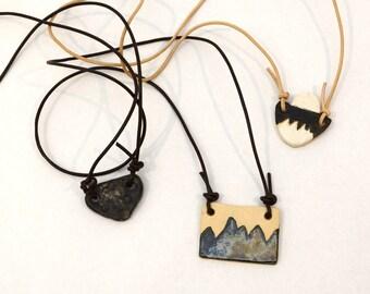 Pit Fired Boho Necklace