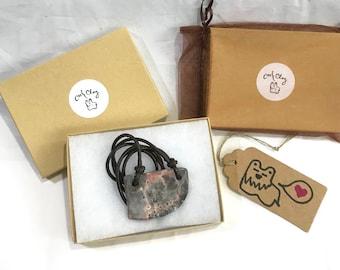 Pit Fired Pink Boho Necklace