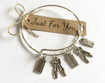 Ballet Teacher Dance Teacher Gift Bangle Dancing Gift Charm Bracelet
