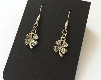 Good Luck Gift Four Leaf Clover Earrings