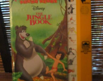 Golden Sound Story Book with Sound Effects Disney The Jungle Book  (1994)