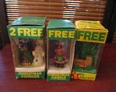 Vintage Christmas Shaped Candle Decoration Ornaments * Wooden Tree Decoration - Tea Bag Promotions