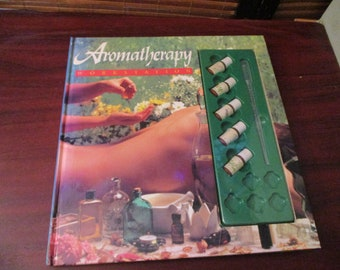 Aromatherapy Workstation   - Vintage Book with Essential Oils