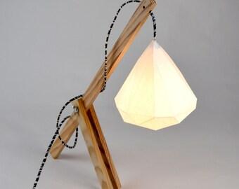 Guto - Geometric DIY lampshade 25 cm instant download papercraft model kit