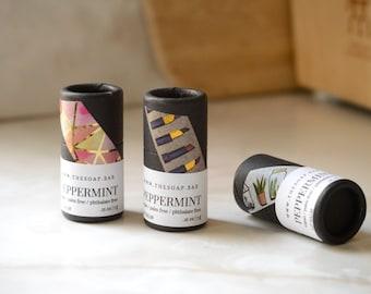 Handmade Vegan Lip Balm - Eco Friendly - All Natural - Biodegradable Push Up Tube - 1/4 Oz Tube - Zero Waste - Soothing Lip Balm - Organic