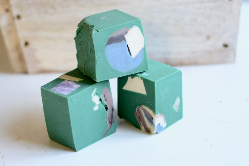 Green Confetti Recycled Handmade Soap  All Natural Skincare  image 0