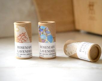 Handmade Vegan Lip Balm - Eco Friendly - Stocking Stuffer - Christmas Gift - All Natural - Biodegradable Tube -Soothing Lip Balm -Zero Waste