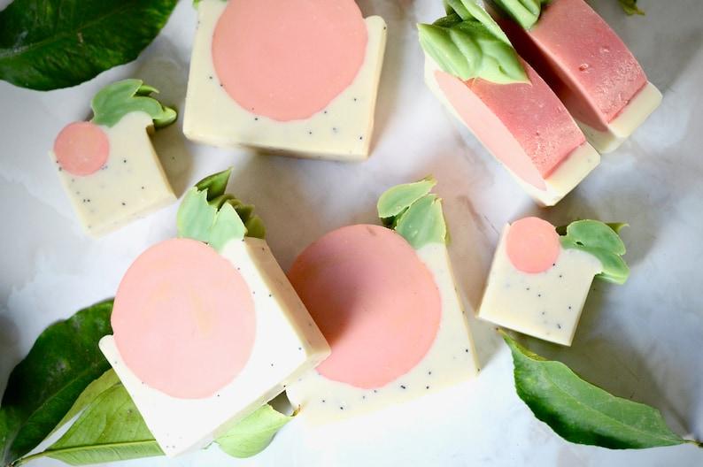 Peachy Soap  Mother's Day Gift Handmade Soap Vegan Soap image 0
