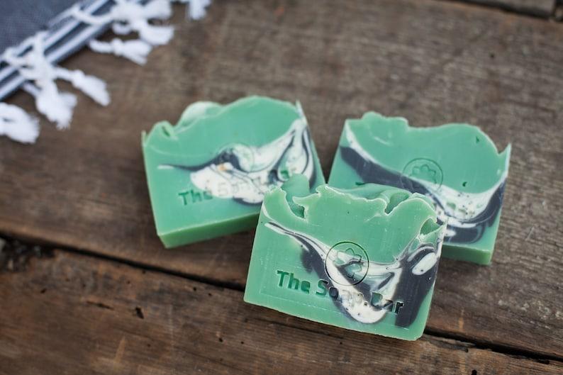 St Patrick's Day Cucumber Melon Soap Vegan Skincare image 0